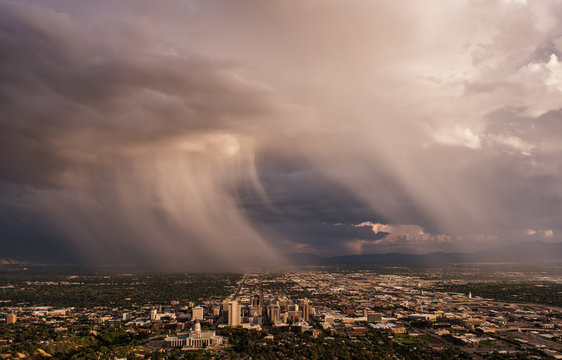 Storm over Salt Lake City