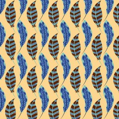 colorful background of feathers. vector illustration EPS10