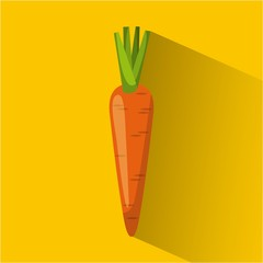 carrot vegetable food icon over yellow background. vector illustration