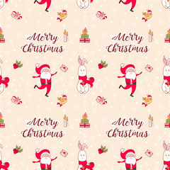 Seamless vector pattern Christmas
