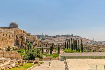 Solomon's temple and Al-Aqsa Mosque Jerusalem
