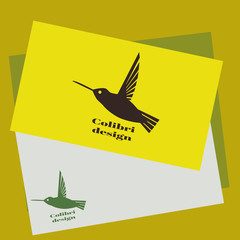Colibri logo. Hummingbird Identity design template. Vector illustration for your company.