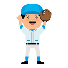 baseball club player field label design vector illustration eps 10