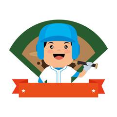 baseball club player field label design vector illustration eps 10