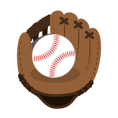 baseball glove icon yellow background vector illustration eps 10