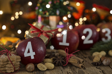 4. Advent Karte Äpfel
