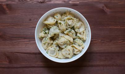 Ravioli in a plate.