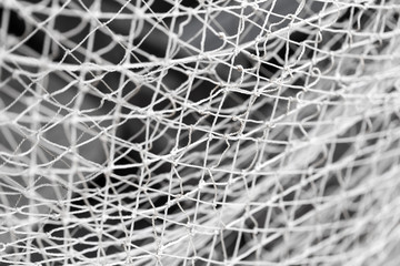 old fishing net as background