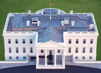 Wall Mural - White House Aerial View North