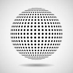 Abstract globe from black dots. Vector design