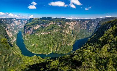 Door stickers Mexico View from above the Sumidero Canyon - Chiapas, Mexico