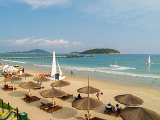 Yalong Bay beach at Hainan island