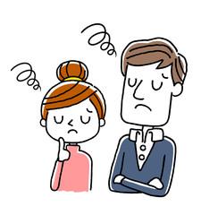 カップル、夫婦:がっかりする、困る