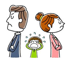 カップル、夫婦:不仲、離婚で子供が悲しむ