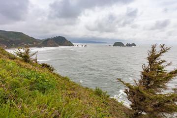 Distant Boulders in the Ocean