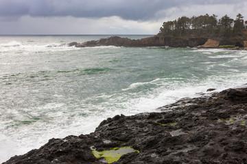 Waves Breaking on a Rocky Beach 1