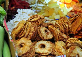 Getrocknete Früchte auf dem Carmelmarkt in Tel Aviv