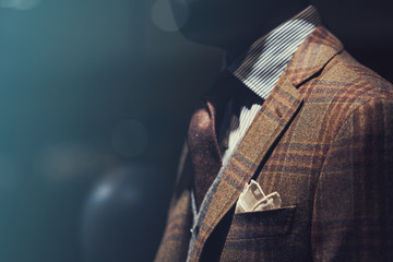 Wall Mural - Suit in a showcase of a luxury store