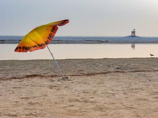 Leaning Beach Umbrella