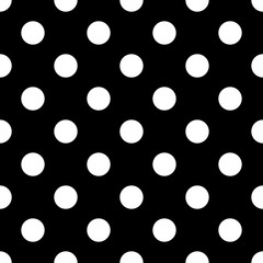 Seamless polka dot black and white