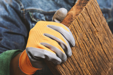 non-slip coated gloves Wall mural