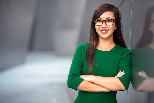 Headshot of cute asian woman professional possibly accountant architect businesswoman lawyer attorney