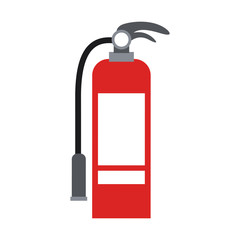 color silhouette with fire extinguisher vector illustration