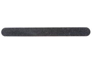 Large black emery board isolated on white background