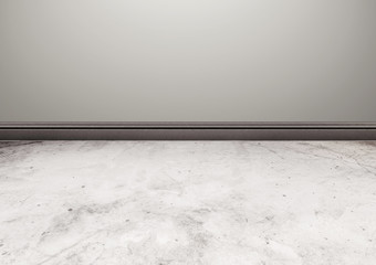 White stone floor with gray wall texture background