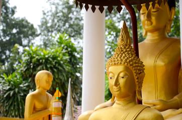 Big Buddha image in Wat Sisaket temple Vientiane Laos
