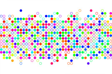 Abstract circle background. Vector background.