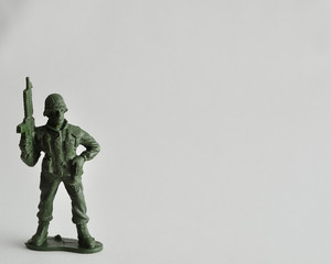 Plastic toy army figurine