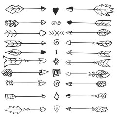 Retro arrows set