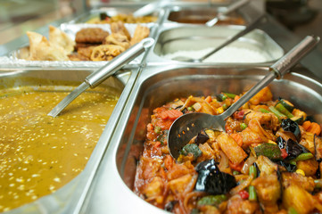 Indian food buffet all you can eat with choice of vegetarian food