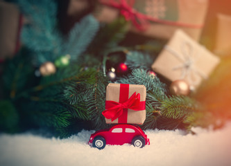 Christmas gifts and car