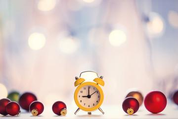 christmas alam clock with fairy
