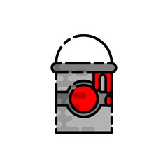 Polygraphy flat icon