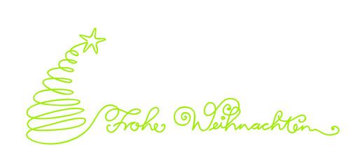 Frohe Weihnachten Schriftzug Handlettering geschrieben Schreibschrift verschnörkelt