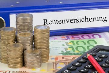 Rentenversicherung / Ordner mit Geld