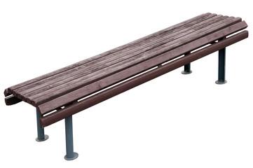 Old aged vintage park bench
