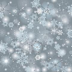Snowflake grey background design