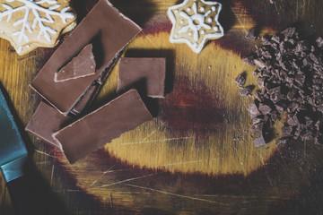 Christmas cookies and chocolate
