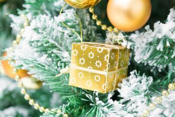 Christmas ornaments, gift on the Christmas tree