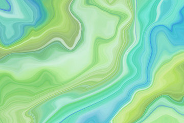 abstract marbled background, decorative agate texture, liquid marbling, creative painted wallpaper, green wavy lines