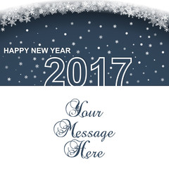 Happy New Year 2017. Calendar design typography vector. Paper white design with shadows.