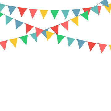 Bunting flag party decoration vector