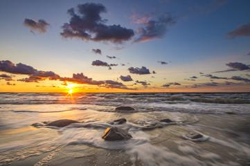 Sunset over the Baltic sea,Poland