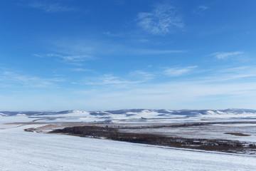 winter landscape in Siberia