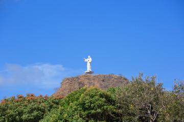 Никарагуа. Сан Хуан Дель Сур. Статуя Христа.