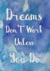 inspiration quote watercolor background
